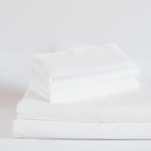 Load image into Gallery viewer, Classic White Split King Sheet Set