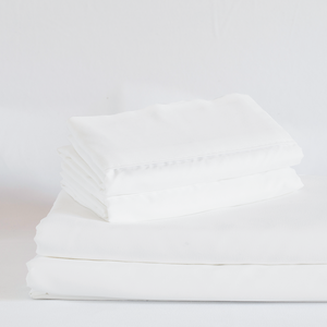 Classic White Split King Sheet Set