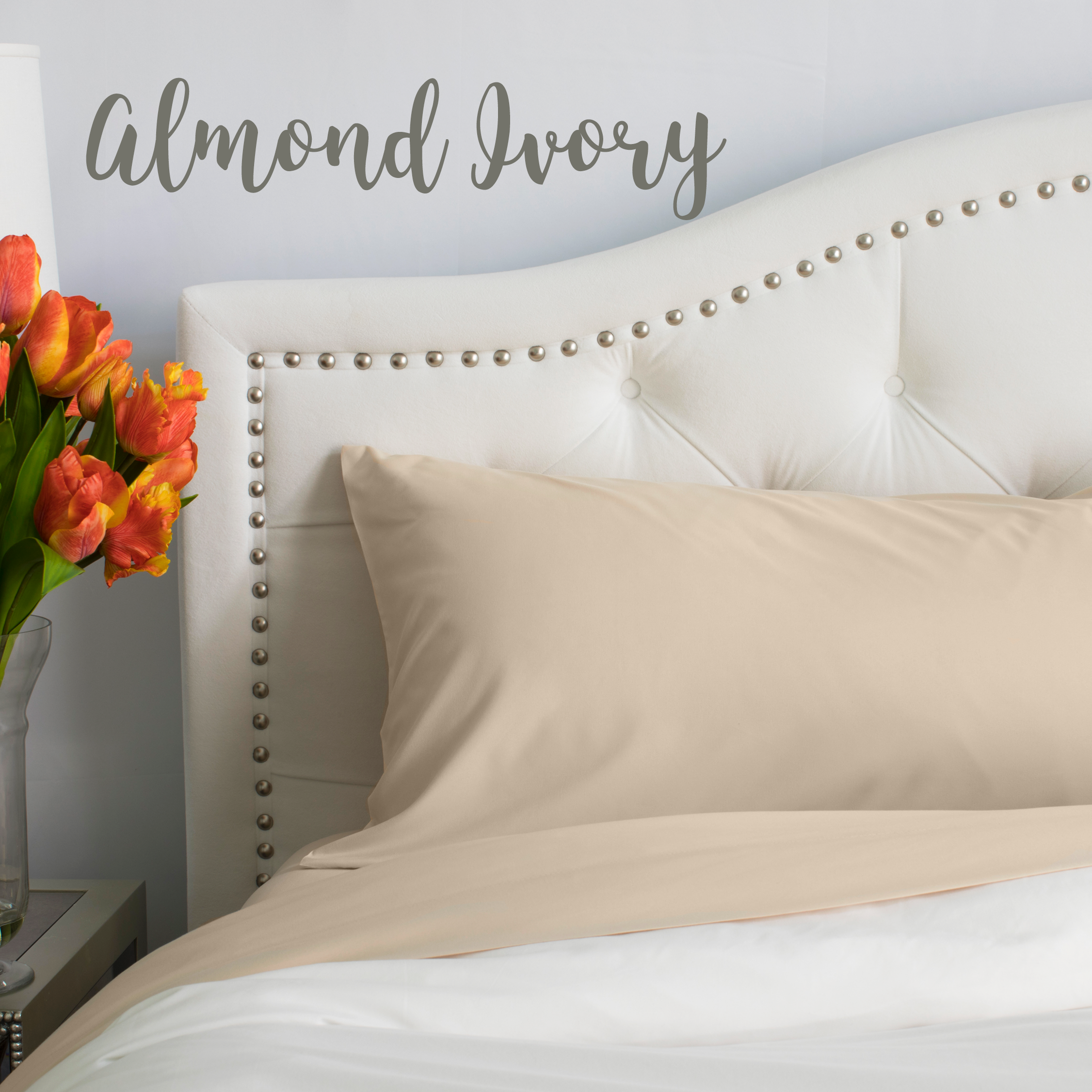 Almond (Ivory) Split King Sheet Set