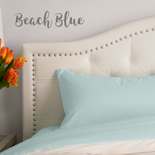 Load image into Gallery viewer, Beach Blue (Aqua) Split King Sheet Set
