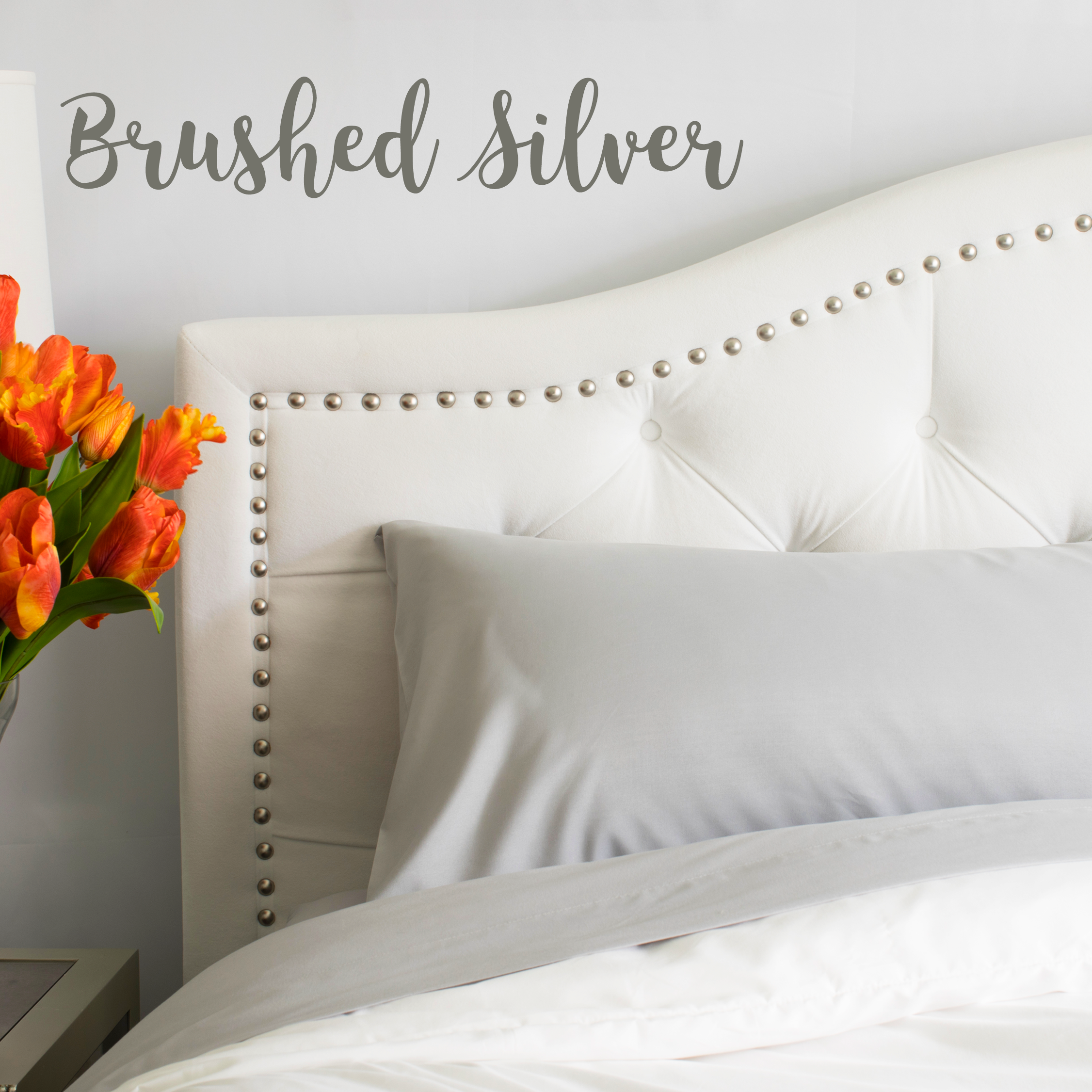 Brushed Silver Split King Sheet Set - Estimated to Ship by 4/30