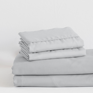 Brushed Silver Split King Sheet Set