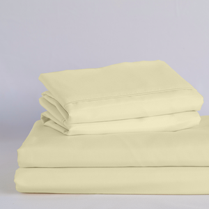Butter Cream Split King Sheet Set