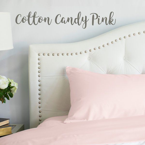 Load image into Gallery viewer, Cotton Candy Pink Split King Sheet Set