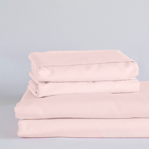 Cotton Candy Pink Split King Sheet Set