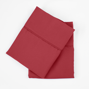 Deep Crimson Red Pillowcase Set