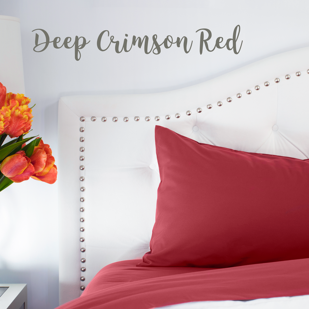 Deep Crimson Red Sheet Set