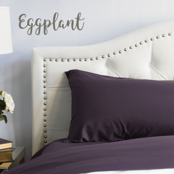 Eggplant Split King Sheet Set