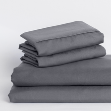 Load image into Gallery viewer, Graphite Gray Split King Sheet Set