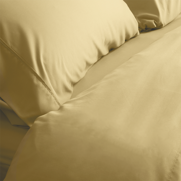 Load image into Gallery viewer, Harvest Gold Split King Sheet Set