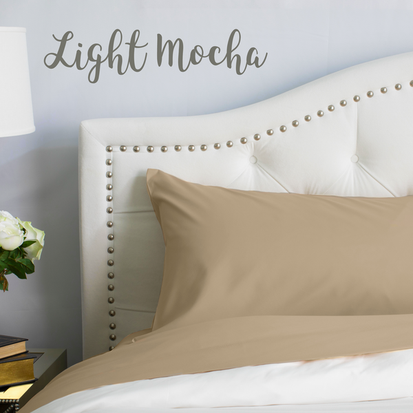Load image into Gallery viewer, Light Mocha Split King Sheet Set