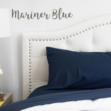 Load image into Gallery viewer, Mariner Blue (Navy) Split King Sheet Set