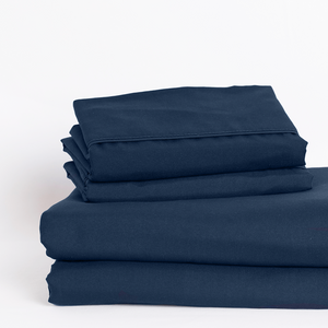 Mariner Blue (Navy) Split King Sheet Set