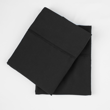 Load image into Gallery viewer, Midnight Black Pillowcase Set