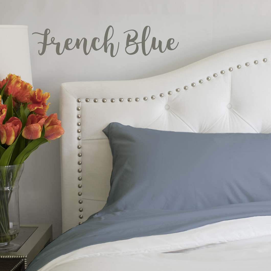 French Blue Sheet Set