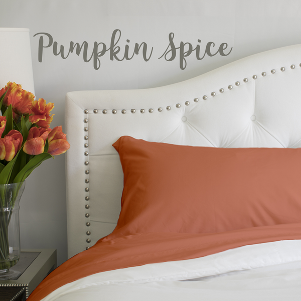 Load image into Gallery viewer, Pumpkin Spice Split King Sheet Set
