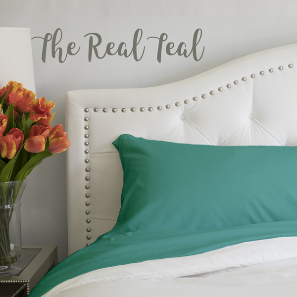 Load image into Gallery viewer, The Real Teal Split King Sheet Set