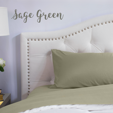Load image into Gallery viewer, Sage Green Split King Sheet Set