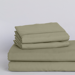 Sage Green Split King Sheet Set