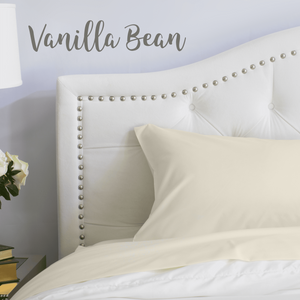 Vanilla Bean Split King Sheet Set