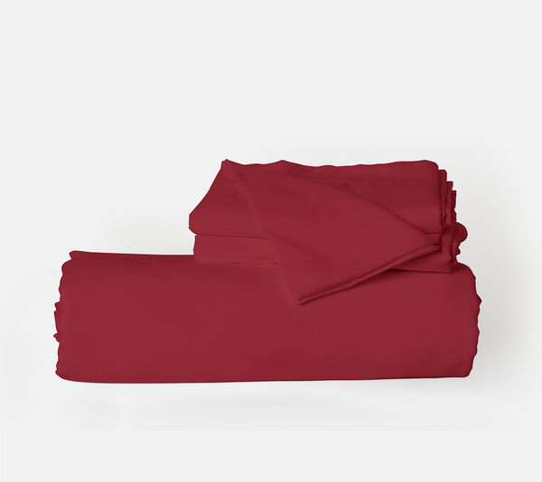 Load image into Gallery viewer, Deep Crimson Red Duvet Cover Set