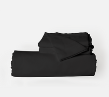 Load image into Gallery viewer, Midnight Black Duvet Cover Set