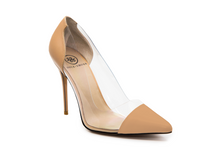 Load image into Gallery viewer, Lizzy Nude Leather Heels - Nude