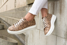 Load image into Gallery viewer, Paris Sneaker Brown Snake