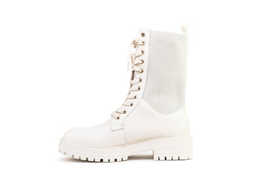 Ronny Combat Boot – Cream