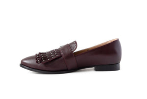Stud Loafer Burgundy