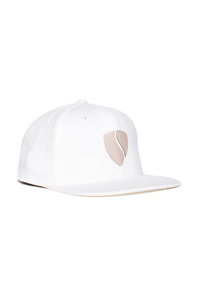 Hercules Hat - White/Tan Leather