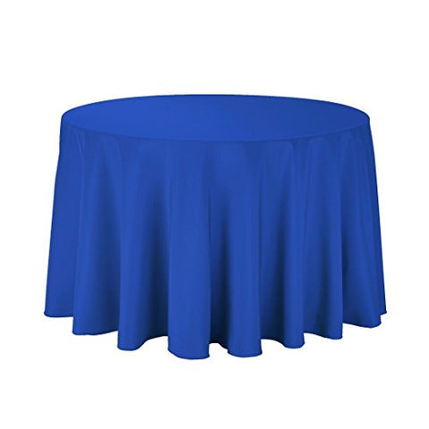 "Gee Di Moda Tablecloth - 108"" Inch Round Tablecloths for Circular Table Cover in Washable Polyester - Great for Buffet Table, Parties, Holiday Dinner &"