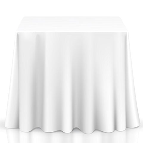 Lanns Linens Square Premium Tablecloth for Wedding/Banquet/Restaurant - Polyester Fabric Table Cloth (Multiple