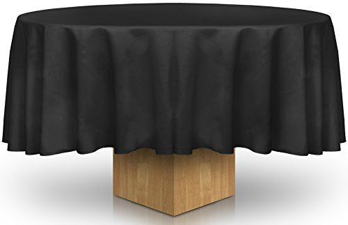 90-Inch Round Tablecloth - 100 Percent Polyester - Professionally Hemmed Edges - by Utopia