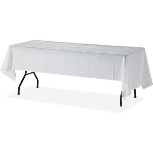 "12 Pack 54"" X 108"" Table Cover Premium Plastic Tablecloth for any Party or Event -"