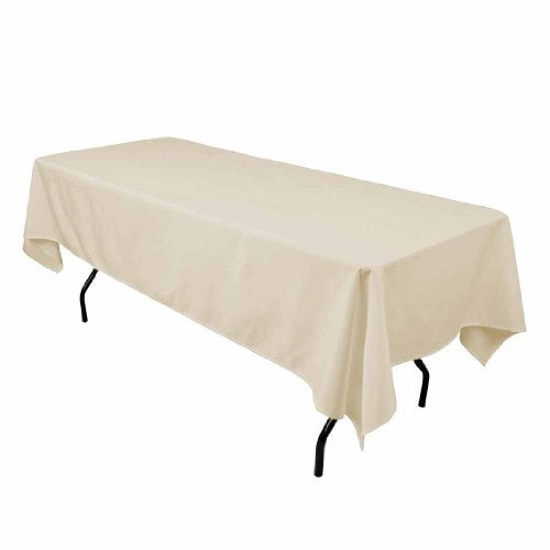 Gee Di Moda Rectangle Tablecloth - 60 x 102 Inch - Rectangular Table Cloth for 6 Foot Table in Washable Polyester - Great for Buffet Table, Parties, Holiday Dinner, Wedding &