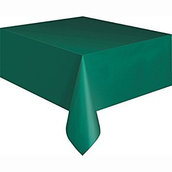 PACK OF 12 Disposable Plastic Tablecloths, 54 x