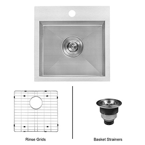 Ruvati Overmount 16 Gauge Kitchen Sink Single