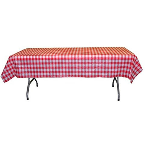 Exquisite 40 Inch. x 100 Ft. Gingham Plastic Tablecloth Roll, Checkerboard Design Disposable Table cover