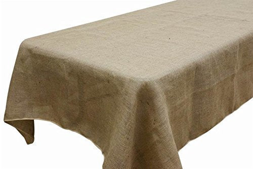 "AK TRADING Rectangle Rustic Burlap Tablecloth, 60"" x 120"","