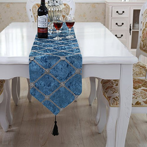 Luxury checker table runner