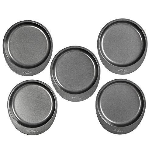 Wilton 2105-0112 Easy Layers! 5-Piece Cake Pan Set,