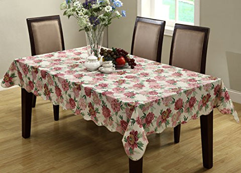 Ufriday Clear Tablecloth for Rectangle Table, Cobblestone/Pebble Decorative Plastic EVA Table Cover Soft Free of PVC Heavy Duty Dining Table Protector Waterproof and Spill