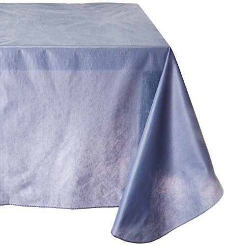 Carnation Home Fashions Vinyl Tablecloth with Polyester Flannel Backing, 52-Inch, by 70-Inch,