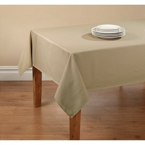 "Vinyl Flannel Backed Indoor Outdoor Tablecloth - Brownstone Wexler - Rectangular - 60"" x 102"" by"