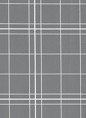 Broder Manufacturing Inc White Lines Flannel Backed Vinyl