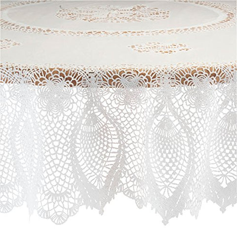 Miles Kimball Crocheted Lace Vinyl Table