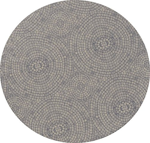 Fitted Vinyl Tablecloth Round - Fits 52 to 60 inch