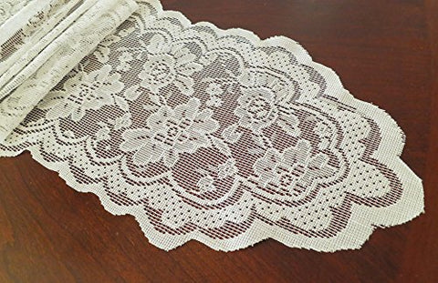 Goldstream Point 108 Inch x 9 Inch Lace Table Runner Narrow Wedding Chair Sash Roll Extra