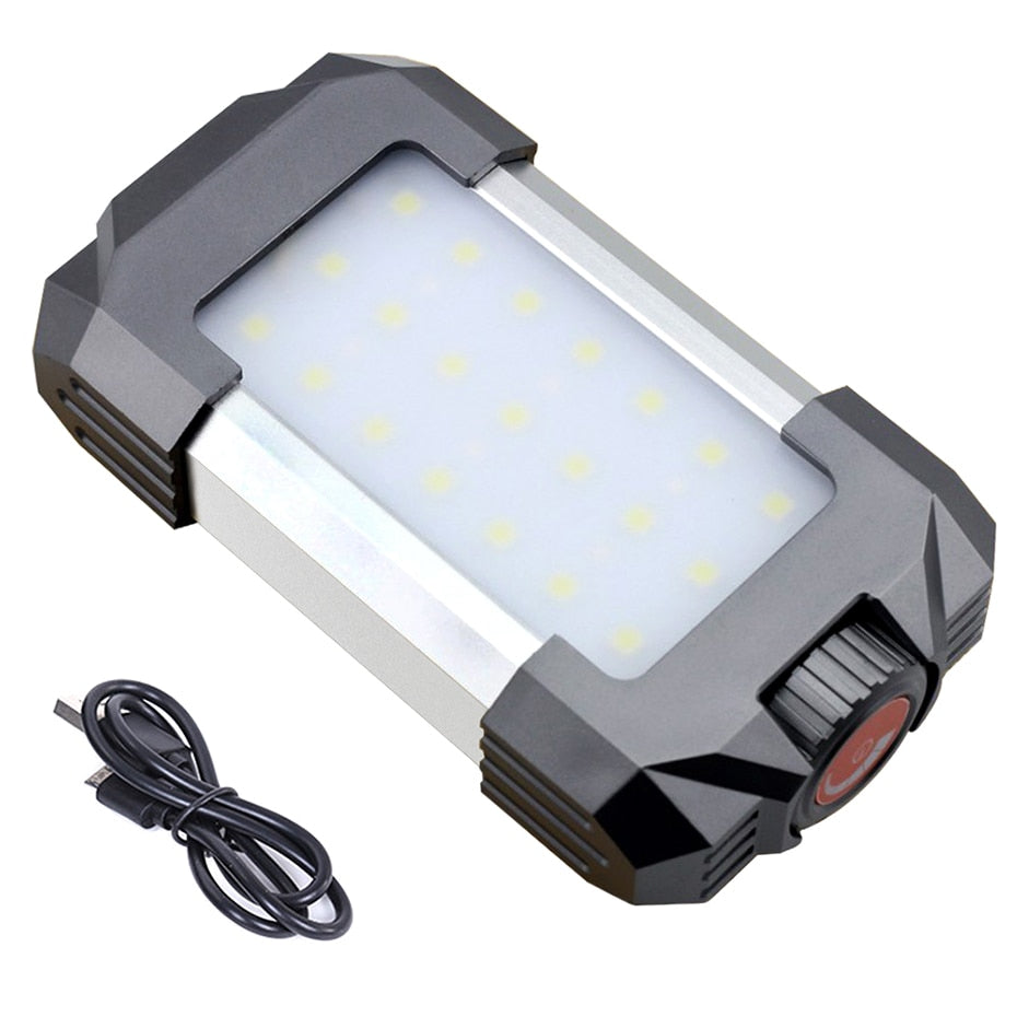 15W USB Portable Rechargeable Camping Lamp Lanterna 6000mAh Waterproof